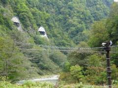 東谷吊橋と関電送電口