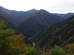 関電送電口と鹿島槍ヶ岳