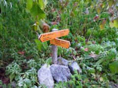ハシゴ谷乗越への実際の道標