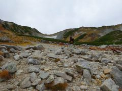 別山乗越への最後の登り
