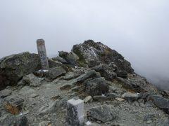 塩見岳西峰登頂