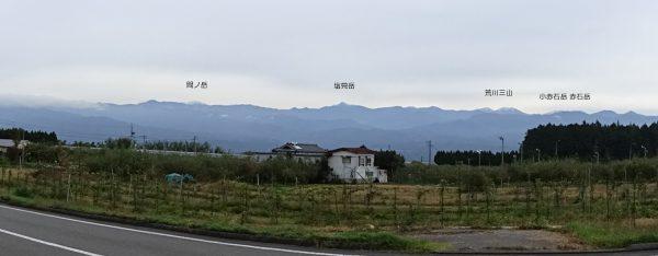 松川町で見る南アルプス