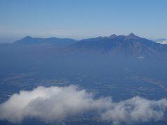 蓼科山と八ヶ岳