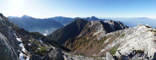 観音岳で見る北側のパノラマ