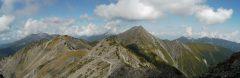 間ノ岳山頂付近で見る北岳(2009/09/25)