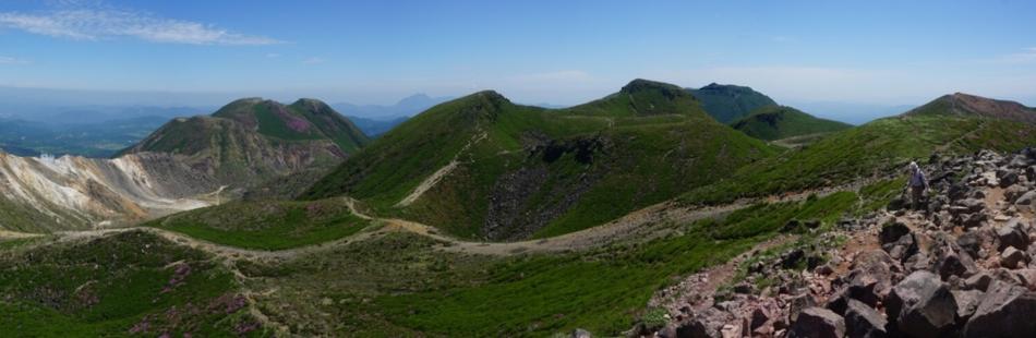 久住山にて中岳方面