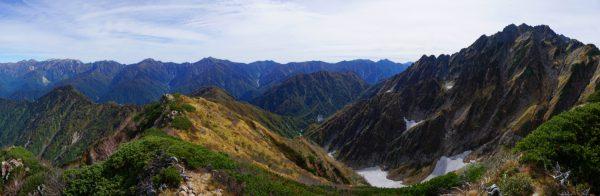 池の平山で見る後立山連峰